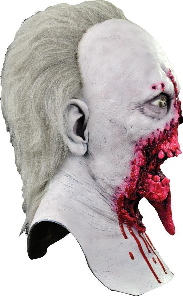 Day of the Dead Mask Doctor Tongue Adult Zombie Bloody Halloween Costume MA1031