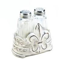 Fleur-De-Lis Salt And Pepper Shakers Set - £9.83 GBP