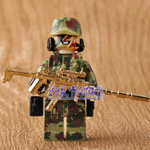 6 Special Forces Minifigures with metal weapons - Lego Military style 6 ... - $19.99