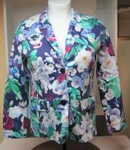 Isaac Mizrahi Live SZ 14 Floral Woman Jacket Never Worn Stunning Purple! B - $36.62