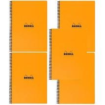 Rhodia 4 Color Book - Lined w/margin 80 sheets - 9 x 11 3/4 - Orange cov... - $60.21
