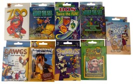 Assorted Kids Card Games Lot 16 Space Dogs Zoo Under Sea Bug Educational... - $24.59