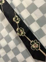 Bugle Boy Made In Usa Flower Polka Dots Neck Tie - $12.86