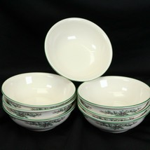 """Pfaltzgraff Holly Joy Soup Cereal Bowls 5.875"""" Lot of 7 Christmas - $35.27"""