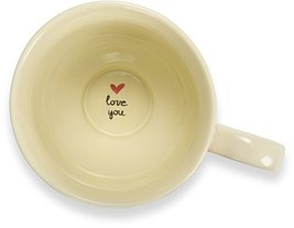 "Pavilion Gift Company 54006""A Mother's Love-Dog Mom"" Floral Soup Bowl Mug, Teal, image 6"