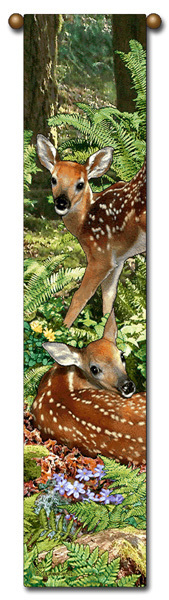 Bell pull deer fawn the twins  b348