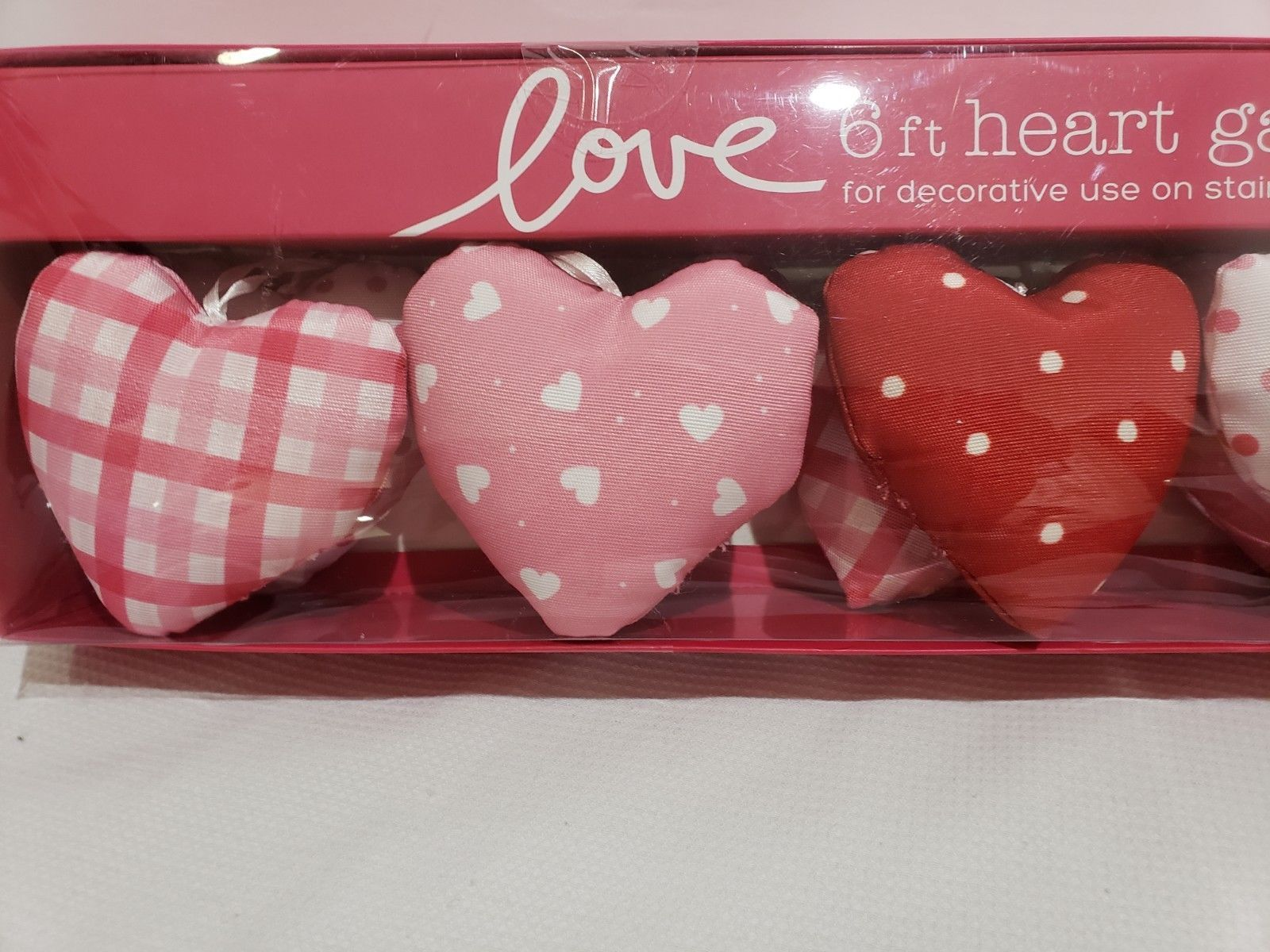 Valentines Day Conversation Heart Garland Love Pink Red Decoration 6FT