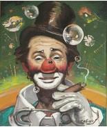 Signed Rufino CEBAL Ceballos Vintage Clown Painting Emmett Kelly - E.K -... - $1,470.00