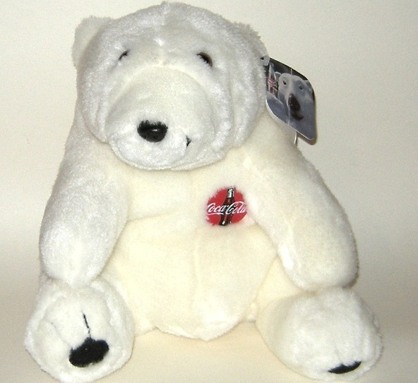 1/2 Price! Large Plush Coke Coca cola Polar Bear 1997 NWT