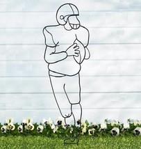 4 Ft Football Sport Sculpture Yard Lawn Stake - €12,85 EUR