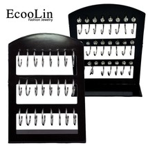 48Pcs 2 Card Fashion Round Stainless Steel Stud Earrings Rock Style Whol... - $29.42