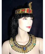 Halloween Costume Egyptian Queen Cleopatra 2Pc Set Cobra Crown and Necklace - $43.69