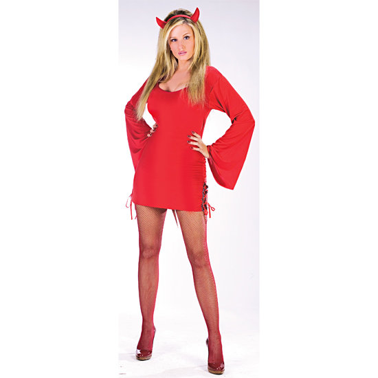 DEVIL Girl Adult Halloween Customs Dress Hat Medium Large