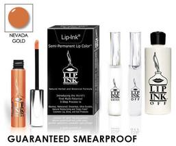 LIP INK Organic Smear proof LipGel Lipstick KIT -  Nevada Gold - $64.08