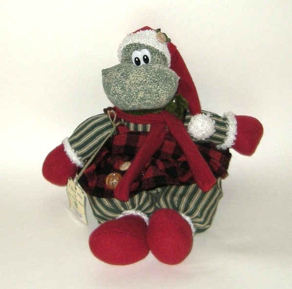 1/2 Price! Ganz Sitting Christmas Red Green Stuffed Frog