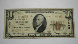 $10 1929 Harrisburg Illinois IL National Currency Bank Note Bill! Ch. #4... - $186.99