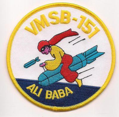 Primary image for USMC WWII Marine Observation Squadron 151 (VMSB-151) ALI BABA Patch
