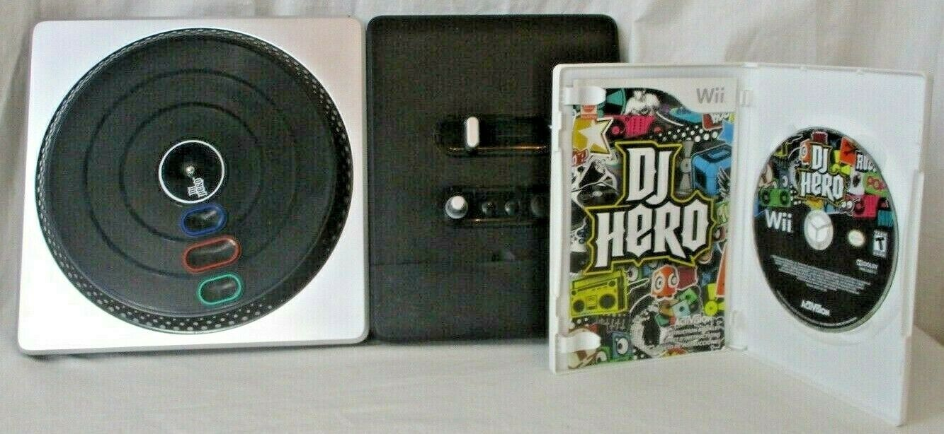 Primary image for Nintendo Wii DJ Hero Turntable Controller W/ DJ Hero Scratch & Mix