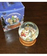 "4"" Snow Globe Holiday Christmas Tree Mouse Family - $9.45"
