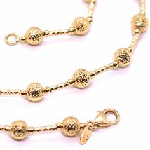 18K ROSE GOLD CHAIN FINELY WORKED 5 MM BALL SPHERES AND TUBE LINK, 17.7 INCHES image 3