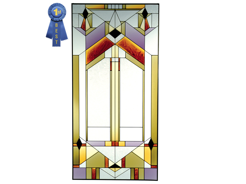 Stained glass deco tectural 22x42  n 019