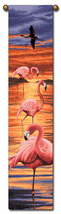 "40"" FLAMINGO Tropical Bell Pull Tapestry Wall Hanging  - $23.00"