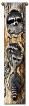 "40"" RACCOON Wildlife Bell Pull Tapestry Wall Hanging  - $23.00"