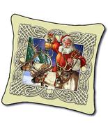 "18"" SANTA Christmas Reindeer Tapestry Cushion Pillow - $25.00"