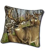"18"" DEER Buck Doe Wildlife Tapestry Cushion Pillow - $25.00"