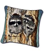 "18"" RACCOON Wildlife Nature Tapestry Cushion Pillow  - $25.00"
