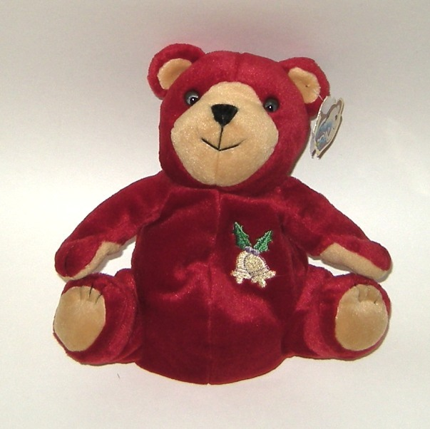50% off! Glory Be 1999 Holiday Bells Plush Red Bean Bear