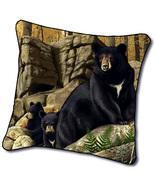 "18"" BEAR Cub Wildlife Nature Tapestry Cushion Pillow - $25.00"