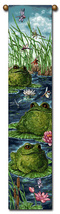 "40"" DRAGONFLY FROG Bell Pull Tapestry Wall Hanging  - $23.00"