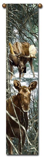 Bell pull moose forest king and consort  b214