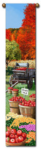 """40"""" APPLES Fall Fruit Farm Bell Pull Tapestry Wall Hanging  - $23.00"""