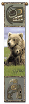 "40"" BEAR Cub Wildlife Bell Pull Tapestry Wall Hanging  - $23.00"