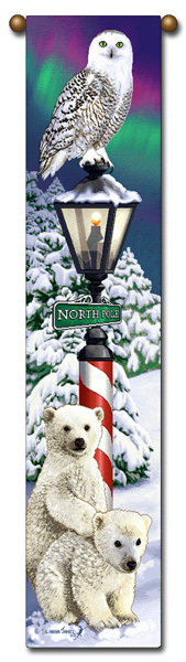 "Primary image for 40"" CHRISTMAS Snow  Bell Pull Tapestry Wall Hanging"