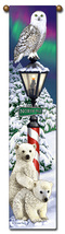 "40"" CHRISTMAS Snow  Bell Pull Tapestry Wall Hanging  - $23.00"
