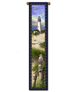 "40"" LIGHTHOUSE Nautical Bell Pull Tapestry Wall... - $23.00"