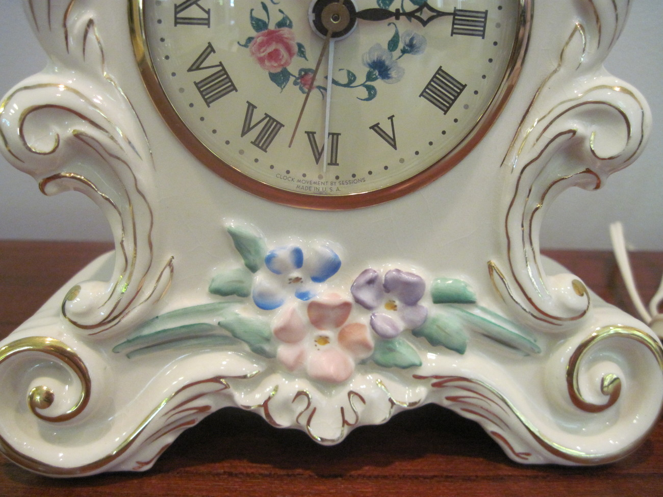 Sessions Electric Mantle Clock Vintage