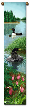 "40"" LOON Duck Wildlife Bell Pull Tapestry Wall Hanging - $23.00"