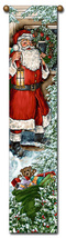 "40"" CHRISTMAS SANTA Bell Pull Tapestry Wall Hanging  - $23.00"