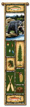 "40"" BEAR LODGE Nature Bell Pull Tapestry Wall Hanging  - $23.00"
