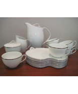 Noritake Silverdale Coffee & Snack Serving for 6 - $85.00