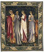 70x58 CAMELOT LADIES Medieval Art Tapestry Wall... - $1,150.00