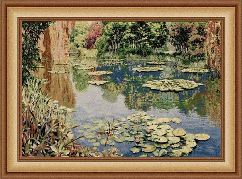 67x88 Monet LAKE GIVERNY Art Tapestry Wall Hanging