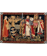 37x54 KING ARTHUR Knight Medieval Tapestry Wall... - $325.00