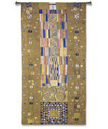 116x53 STOCLET FRIEZE KNIGHT Gustav Klimt Art Tapestry Wall Hanging - $370.00