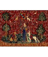50x68 Lady & UNICORN ~Sense of Touch~ Medieval ... - $295.00