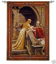 53x76 GODSPEED Knight Medieval Tapestry Wall Hanging - $289.95